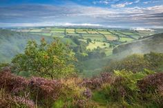 I love the patchwork of green fields        The Punch Bowl, Somerset, England  View Post