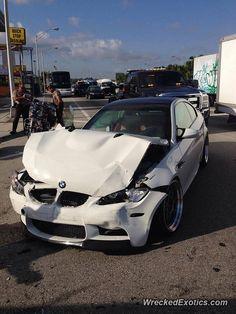 BMW M3 crashed in Miami, Florida, USA