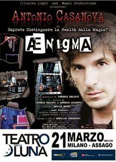 """TG Musical e Teatro in Italia: Antonio Casanova al Teatro della Luna presenta """"Æn..."""