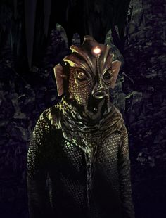 Doctor Who - and the silurians - cave monster