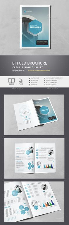 Corporate Bi-Fold Brochure Template InDesign INDD. Download here: http://graphicriver.net/item/corporate-bifold-brochure-v4/15102707?ref=ksioks