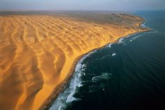 Where desert meets the ocean - The Namib Desert. Its also one of the oldest and largest deserts.