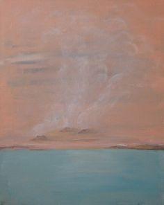 Fumaroles Abstract Landscape Painting Iceland by PuzzledbyArtmondo