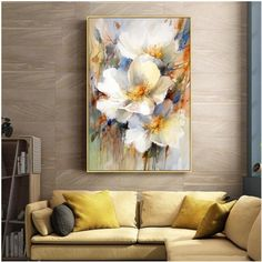 Original Nordic Large Abstract Oil Painting , Impressional Flower Painting On Canvas, Hand Painted Abstract, Unique Art for Living Room Abstract Painting Techniques, Oil Painting Abstract, Large Painting, Painting Art, Watercolor Painting, Modern Art Paintings, Indian Paintings, Oil Paintings, Landscape Paintings