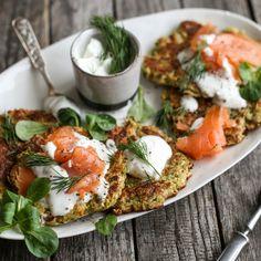 🍴Cuketové bramboráky s uzeným lososem recept – rychle, zdravě a jednoduše 🍴 Jimezdrave.cz Zucchini, Caprese Salad, Eat, Fitness, Instagram, Potato Latkes, Clean Foods, Health, Simple