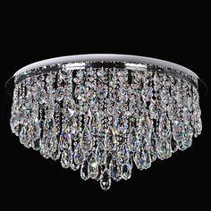 Buy Crystal Ceiling Light  LED Modern  Contemporary Living Room  Dining Room…