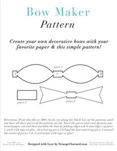 DIY Bow Making Pattern