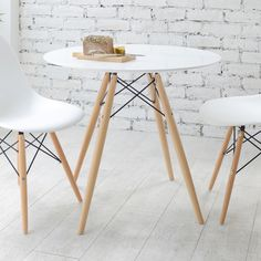 Combine with our Eiffel dining chairs to create the perfect, ultra-stylish dining space. Accommodating up to four people this neat, bistro sized dining table is perfect for the smaller home.