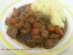 Guiso de ternera y cerveza negra. Guiness beef stew.