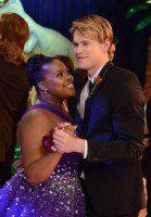 Sam Evans and Mercedes Jones (Glee).