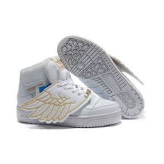 JS Men's adidas Originals Jeremy Scott Wings Shoes - White Gold