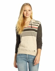 Billabong Juniors New Shores Pull Over Hoodie, Off Black, Large - http://www.immmb.com/women-clothing/billabong-juniors-new-shores-pull-over-hoodie-off-black-large.html/