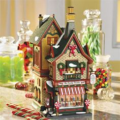 "Department 56: Products - ""The Candy Counter"" - View Lighted Buildings"