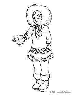 inuit princess coloring page