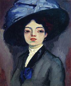 Kees van Dongen (Dutch, French 1877–1968) [Fauvism] Femme avec un chapeau grand, 1912.