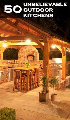 50 Unbelievable Outdoor Kitchens