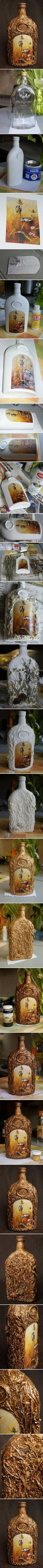 DIY Decorative Glass Bottle