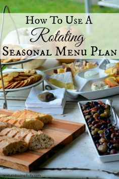 Love menu plans, but hate having to actually plan them every week? Here is how I quickly and easily created a rotating seasonal menu plan for the entire year! | areturntosimplicity.com