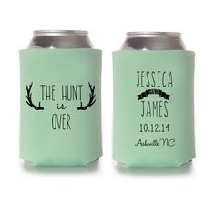 @staciawarneke The Hunt is Over Rustic Wedding Koozies by yourethatgirldesigns, $89.00