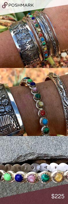 Spotted while shopping on Poshmark: Fine Zuni Sterling Multi Stone Bangle! #poshmark #fashion #shopping #style #Zuni #Jewelry