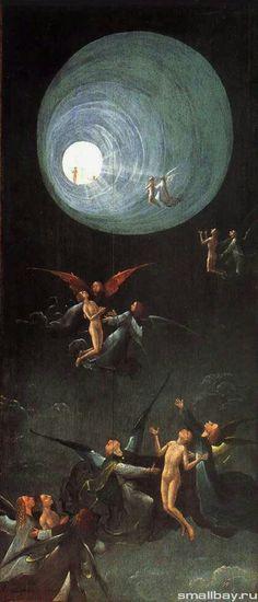 Вознесение в эмпирей Иероним Босх «Видения загробного мира», часть алтаря «Страшный суд», 1500-1504