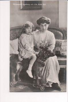 Princess Ingeborg of Sweden (nee Princess Ingeborg of Denmark) and Prince Carl of Sweden.