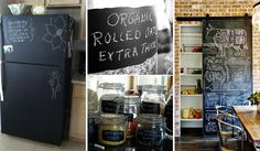 21 Inspiring Ways To Use Chalkboard Paint On a Kitchen | Check out more fun DIY projects/hacks/recipes here http://gwyl.io/