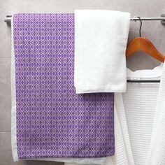 East Urban Home Katelyn Elizabeth Full Colour Arrow Diamonds Bath Towel - Microfiber Colour: Purple/Yellow Deep Pocket Sheets, Turkish Cotton Towels, Linen Store, Purple Yellow, Color Blue, Light Purple, Colour Light, Pink, Toile