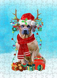Rhodesian Ridgeback Dog in Snow Jigsaw Puzzle, Christmas, 1000 Pieces Jigsaw Puzzle PrintYmotion #Rhodesian Ridgeback #Dog Lovers gift #Christmas Gift #Christmas Puzzle Lovers Gift, Gift For Lover, Dog Lovers, Christmas Puzzle, Snow Dogs, Rhodesian Ridgeback, Metal Tins, Grinch, 1000 Piece Jigsaw Puzzles