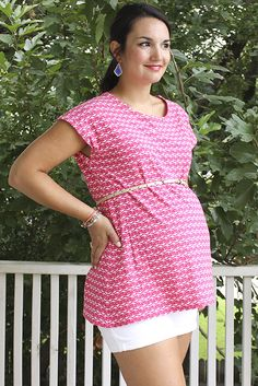 Just For You Sewlebrity Sewalong: Caroline's adorable Saturday Night Tunic — SewCanShe | Free Daily Sewing Tutorials