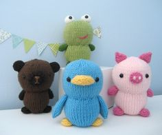 Animal Friends Knit Pattern Set