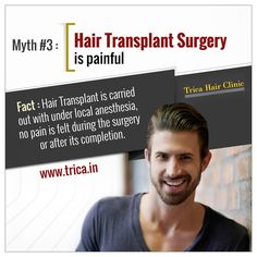 Hair Transplant Surgery in Mumbai:  Know the ridiculous hair transplant myth you need to stop believing.Trica Hair Clinic provides high quality hair transplantation.Visit : www.trica.in