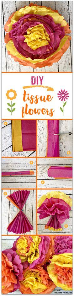 DIY Tissue Flowers: Big! Bold! Bright! And... budget friendly!