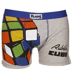 Rubik's cube boxer shorts - the best holiday gift for the Rubik's Cuber!
