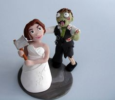 Zombie cake topper by Claytastic Cake Toppers