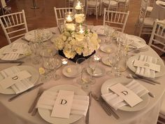 Low White Centerpiece in black and white By Tustin Florist