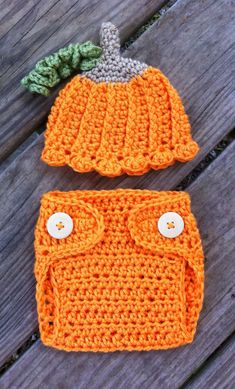 Newborn Girl or Boy #Crochet Halloween PUMPKIN Beanie Hat n #Diaper #Cover Set JA, View more on the LINK: http://www.zeppy.io/product/gb/3/162265651/