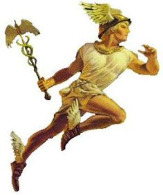 Mercury (Hermes) and his winged shoes from Chapter 40