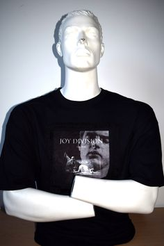 Joy Division, Ian Curtis custom made t-shirt by MoNkA.  Hand printed using sublimation technique onto velvet fabric patches.   https://www.facebook.com/monka.rocks/?fref=ts