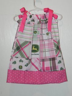 Pillow Case Dress John Deere...@Nichole Effle...Hmmm...