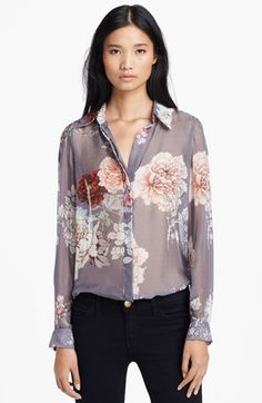 L'AGENCE Floral Print Silk Blouse available at #Nordstrom