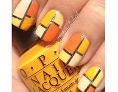 Trama a quadri giallo e arancione