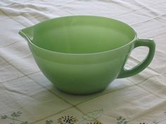 Fire King Jadeite Jadite Green Batter Bowl with Handle by Anchor Hocking