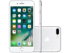 Este é o 7 Plus. O iPhone 7 Plus melhora consideravelmente as partes mais importantes da sua experiência com o iPhone. Ele traz um conjunto de câmeras completamente novo, o melhor desempenho e a maior duração de bateria até hoje, sistema de alto-falantes estéreo e tela com mais brilho e cores. Além disso, é resistente à água e respingos.