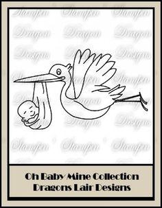 Oh Baby Mine Collection - Stork Digi Stamp
