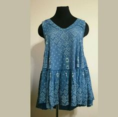 Free People Tunic New with tags Printed high-low tunic Wear as top or dress Color: Peacock Free People Dresses Mini