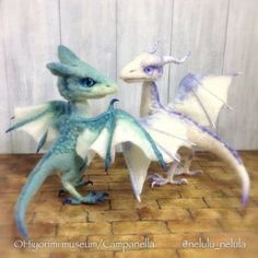 Needle felted dragons by Hiyorimi museum/Campanella