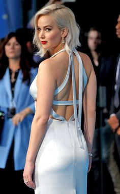 Jennifer Lawrence from Movie Premieres: Red Carpets and Parties!  The Oscar winner gives glamorous side eye at the London premiere of X-Men: Apocalypse.