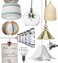 Modernise shabby chic with pendant lamps