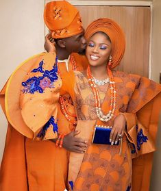 Beautiful portrait 🧡🧡🧡 Mua & gele- Asooke- A. Nigerian Traditional Wedding, Traditional Wedding Attire, African Traditional Dresses, African Inspired Fashion, Latest African Fashion Dresses, African Print Fashion, African Wedding Attire, African Attire, African Lace